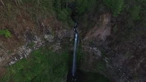 Coban Rondo Waterfall stock footage