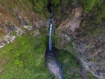 Coban Rondo Waterfall stock photography