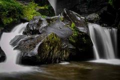 Coban Talun vattenfall, Malang, East Java, Indonesien arkivfoton