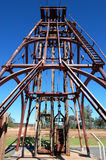 Cobar gold mine monument Australia. Gold mine monument in park, Cobar town, Australia Royalty Free Stock Photo