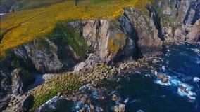 Cobas-Leuchtturm Ein Coruña Galizien stock footage