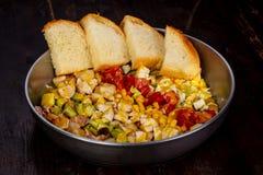 Cobb沙拉用玉米 免版税库存照片