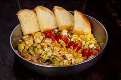 Cobb沙拉用玉米 库存图片