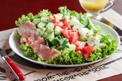 Cobb沙拉-传统美国食物 库存图片