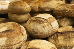 Cobb loaves at bakery. Cobb loaves for sale at bakery royalty free stock photo