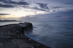 The Cobb at Lyme Regis. On Dorset's Jurassic Coast royalty free stock photos