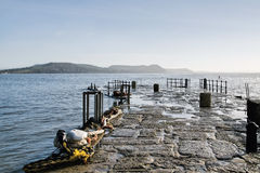 At The Cobb - Lyme Regis Royalty Free Stock Photos