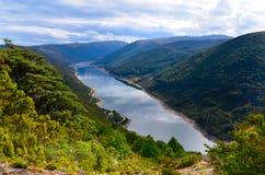 Cobb-Reservoir, Nationalpark Kahurangi stockbild