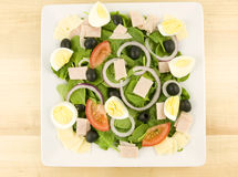 Cobb Salad. With onions tomato olive and eggs royalty free stock images