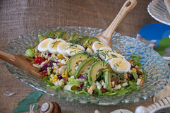 Cobb Salad. This is a herb cobb salad, with lots of herbs and vegetables royalty free stock image