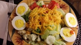 Cobb Salad. Lettuce  tomato egg salad Royalty Free Stock Photography