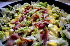 Cobb salad. Was created at the Brown Derby Restaurant in Hollywood royalty free stock image
