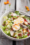 Cobb Salad on weathered wood royalty free stock photography