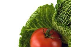 Cobbage y tomate Foto de archivo