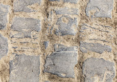 Cobbelstone drogi szczegół Obrazy Stock