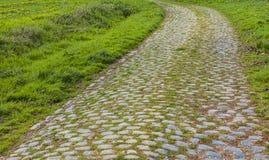 Cobbelstone väg Arkivfoton