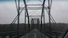 Cobben Bridge. Rainy day on the bridge Stock Photo