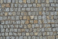 Cobble υπόβαθρο επίστρωσης οδών πετρών Στοκ Εικόνες