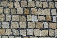 Cobble υπόβαθρο επίστρωσης οδών πετρών Στοκ φωτογραφίες με δικαίωμα ελεύθερης χρήσης