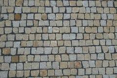 Cobble υπόβαθρο επίστρωσης οδών πετρών Στοκ εικόνες με δικαίωμα ελεύθερης χρήσης