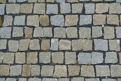 Cobble υπόβαθρο επίστρωσης οδών πετρών Στοκ Εικόνα