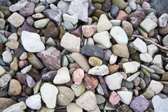 Cobble background. A cobble rock background with colorful rocks Stock Photos