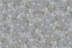 Cobble circular pattern block pavement texture background. Top view.  royalty free stock photo