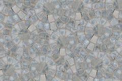 Cobble de cirkelachtergrond van de de bestratingstextuur van het patroonblok Hoogste mening royalty-vrije stock foto