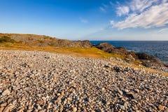 Cobble deposit at Molen UNESCO Global Geopark Larvik Vestfold No royalty free stock photos