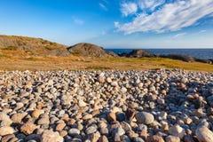 Cobble deposit at Molen UNESCO Global Geopark Larvik Vestfold No stock photos
