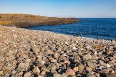 Cobble deposit at Molen UNESCO Global Geopark Larvik Vestfold No stock photo