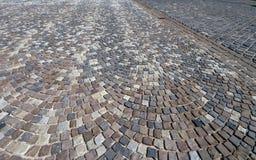 Cobble el modelo de piedra de la calle, Budapest, Hungría Foto de archivo libre de regalías