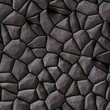 Cobble het patroon naadloze achtergrond van het stenen onregelmatige mozaïek - gekleurd bestratings donkergrijze natuurlijk Stock Fotografie