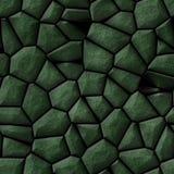 Cobble het patroon naadloze achtergrond van het stenen onregelmatige mozaïek - gekleurd bestratings donkergroene natuurlijk Stock Foto's