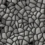 Cobble het patroon naadloze achtergrond van het stenen onregelmatige mozaïek - gekleurd bestratings lichtgrijs Royalty-vrije Stock Fotografie