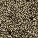 Cobble het patroon naadloze achtergrond van het stenen onregelmatige mozaïek - gekleurd bestratings natuurlijk beige Royalty-vrije Stock Foto