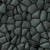 Cobble het patroon naadloze achtergrond van het stenen onregelmatige mozaïek - gekleurd bestratings natuurlijke donkergrijs Royalty-vrije Stock Afbeeldingen