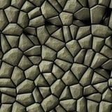 Cobble het patroon naadloze achtergrond van het stenen onregelmatige mozaïek - gekleurd bestratings natuurlijke grijs Royalty-vrije Stock Afbeeldingen