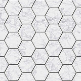 Cobble hexagon marble stone background. Illustrated seamless texture Royalty Free Stock Photos