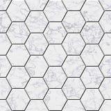 Cobble hexagon marble stone background. Illustrated seamless texture stock illustration