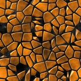 Cobble il fondo senza cuciture di struttura del modello di mosaico delle pietre - pezzi arancioni della pavimentazione su terra n illustrazione di stock