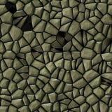 Cobble il fondo senza cuciture irregolare del modello di mosaico delle pietre - beige della pavimentazione colorato illustrazione di stock