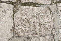Cobble le pietre in calcestruzzo su un percorso, la macro di struttura del fondo, fuoco selettivo fotografia stock