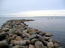 Cobble mole in a sea stock photos