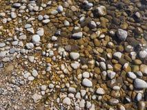 cobble op waterachtergrond stock afbeeldingen