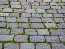 Cobble Pavement. A concept shot of stone pavement, the photograph was taken in the city of Malmo, Sweden Stock Images
