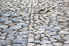 Cobble road Royalty Free Stock Photo