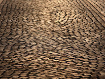 Cobble road Royalty Free Stock Image