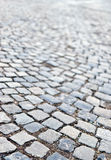 Cobble road Stone sidewalk background Royalty Free Stock Images