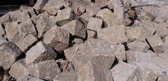 Cobble steen - achtergrond Stock Foto